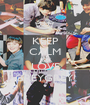 KEEP CALM AND LOVE GREYGREY! - Personalised Poster A1 size