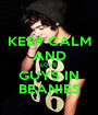 KEEP CALM AND LOVE GUYS IN BEANIES - Personalised Poster A1 size