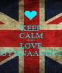 KEEP CALM AND LOVE GYMNAASTICS - Personalised Poster A1 size
