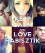 KEEP CALM AND LOVE HABISZTIK - Personalised Poster A1 size