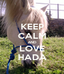 KEEP CALM AND LOVE HADA - Personalised Poster A1 size
