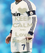 KEEP CALM AND Love Hadjer - Personalised Poster A1 size