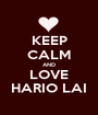 KEEP CALM AND LOVE HARIO LAI - Personalised Poster A1 size