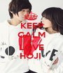 KEEP CALM AND LOVE HOJI  - Personalised Poster A1 size