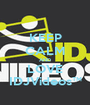 KEEP CALM AND LOVE IDJVideos™ - Personalised Poster A1 size