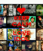 KEEP CALM AND LOVE IDOL - Personalised Poster A1 size