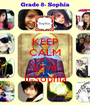 KEEP CALM AND Love II-Sophia - Personalised Poster A1 size