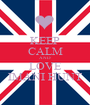 KEEP CALM AND LOVE IMANI HUNT - Personalised Poster A1 size