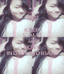 KEEP CALM AND LOVE INDAH INDRIANI - Personalised Poster A1 size