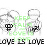 KEEP CALM AND LOVE IS  LOVE - Personalised Poster A1 size