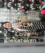 KEEP CALM AND Love Jakatelyn  - Personalised Poster A1 size
