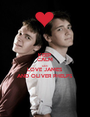 KEEP CALM AND LOVE JAMES AND OLIVER PHELPS - Personalised Poster A1 size