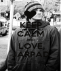 KEEP CALM AND LOVE JARPAD - Personalised Poster A1 size