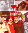 KEEP CALM AND LOVE JELENA FOREVER - Personalised Poster A1 size