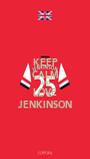 KEEP CALM AND LOVE JENKINSON - Personalised Poster A1 size