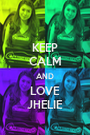 KEEP CALM AND LOVE JHELIE - Personalised Poster A1 size