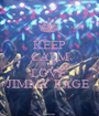KEEP CALM AND LOVE  JIMMY PAGE  - Personalised Poster A1 size