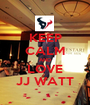 KEEP CALM AND LOVE JJ WATT - Personalised Poster A1 size