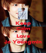 Keep Calm and Love Jo Youngmin - Personalised Poster A1 size