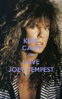 KEEP CALM AND LOVE JOEY TEMPEST - Personalised Poster A1 size