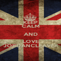 KEEP CALM AND LOVE JORDANCLEAVER - Personalised Poster A1 size