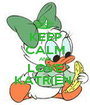 KEEP CALM AND LOVE KATRIEN  - Personalised Poster A1 size