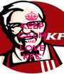 KEEP CALM AND  LOVE KFC - Personalised Poster A1 size