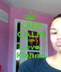 KEEP CALM AND Love  Kiahna - Personalised Poster A1 size