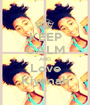 KEEP CALM AND Love Kiyanah - Personalised Poster A1 size