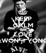 KEEP CALM AND LOVE kWON jI YONG - Personalised Poster A1 size