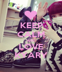 KEEP CALM AND LOVE KYARY - Personalised Poster A1 size