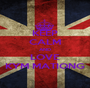 KEEP CALM AND LOVE KYM MATIONG - Personalised Poster A1 size