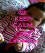 KEEP CALM AND Love Lakeisha - Personalised Poster A1 size