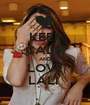 KEEP CALM AND LOVE LALI  - Personalised Poster A1 size