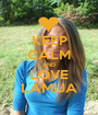 KEEP CALM AND LOVE LAMIJA - Personalised Poster A1 size
