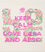 KEEP CALM AND LOVE LARA AND AESC - Personalised Poster A1 size