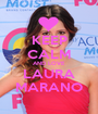 KEEP CALM AND LOVE LAURA MARANO - Personalised Poster A1 size