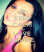 KEEP CALM AND LOVE LAURIE - Personalised Poster A1 size