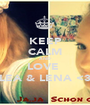 KEEP CALM AND LOVE  LEA & LENA <3 - Personalised Poster A1 size