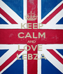 KEEP CALM AND LOVE  LEBZA - Personalised Poster A1 size
