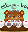 KEEP CALM AND LOVE LEE BEAR - Personalised Poster A1 size