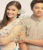 KEEP CALM AND LOVE LIZNIEL - Personalised Poster A1 size