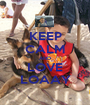 KEEP CALM AND LOVE LOAAY - Personalised Poster A1 size