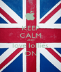 KEEP CALM AND love lollies ON - Personalised Poster A1 size