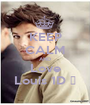 KEEP CALM AND Love Louis 1D ♥ - Personalised Poster A1 size