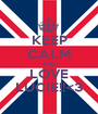KEEP CALM AND LOVE LUCIE!!<3 - Personalised Poster A1 size