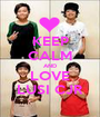 KEEP CALM AND LOVE LUSI CJR - Personalised Poster A1 size