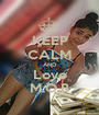 KEEP CALM AND Love M.O.B - Personalised Poster A1 size