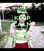 KEEP CALM AND love Maddy<3 - Personalised Poster A1 size