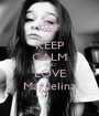 KEEP CALM AND LOVE Magdelina - Personalised Poster A1 size